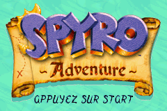 Spyro Adventures (E)(Patience) Title Screen