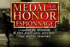Medal of Honor - Infiltrator (U)(Venom) Title Screen