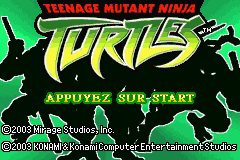 Teenage Mutant Ninja Turtles (E)(Rising Sun) Title Screen