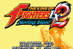 The King of Fighters EX2 - Howling Blood (U)(Mode7) Title Screen