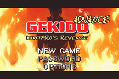 Gekido Advance - Kintaros Revenge (U)(Ongaku) Title Screen