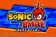 Sonic Battle (U)(Rising Sun) Title Screen