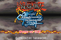 Yu-Gi-Oh! - World Championship Tournament 2004 (U)(Rising Sun) Title Screen