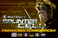 Tom Clancy's Splinter Cell - Pandora Tommorow (E)(Rising Sun) Title Screen
