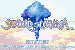 Sword of Mana (E)(Rising Sun) Title Screen