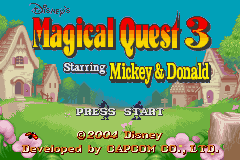Disney's Magical Quest 3 Starring Mickey and Donald (E)(Rising Sun) Title Screen