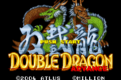 Double Dragon Advance (J)(Rising Sun) Title Screen