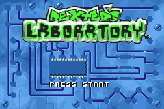 Dexter's Laboratory - Deesaster Strikes (E)(GBA) Title Screen