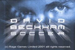 David Beckham Soccer (U)(Independent) Title Screen