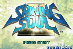 Shining Soul II (U)(Independent) Title Screen