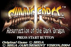 Shining Force - Resurrection of the Dark Dragon (E)(Independent) Title Screen