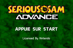 Serious Sam Advance (E)(GBA) Title Screen