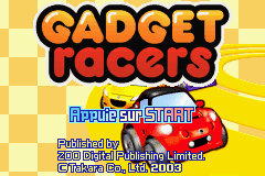 Gadget Racers (E)(Independent) Title Screen