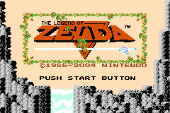 Classic Nes - The Legend of Zelda (U)(TrashMan) Title Screen