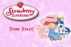 Strawberry Shortcake Volume 1 - Gameboy Advance Video (U)(Independent) Title Screen