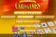 Ultimate Card Games (U)(Independent) Title Screen