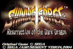 Shining Force - Resurrection of the Dark Dragon (U)(TrashMan) Title Screen