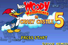 Woody Woodpecker In Crazy Castle 5 (U)(Independent) Title Screen