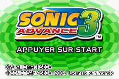 Sonic Advance 3 (J)(Cezar) Title Screen