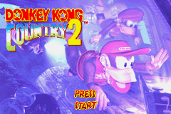 Donkey Kong Country 2 (E)(Morrigan) Title Screen