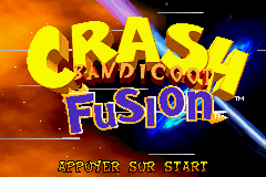 Crash Bandicoot Fusion (E)(Rising Sun) Title Screen