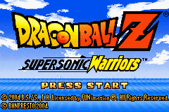 DragonBall Z - Supersonic Warriors (U)(Rising Sun) Title Screen