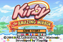 Kirby And The Amazing Mirror (E)(Rising Sun) Title Screen