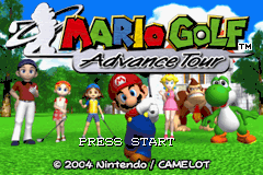 Mario Golf - Advance Tour (A)(TrashMan) Title Screen