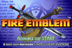 Fire Emblem (E)(Rising Sun) Title Screen
