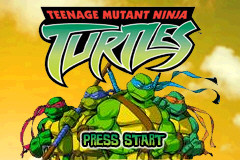 Teenage Mutant Ninja Turtles Volume 1 - Gameboy Advance Video (U)(Rising Sun) Title Screen