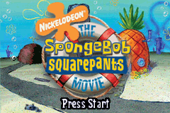 The SpongeBob SquarePants Movie (U)(TrashMan) Title Screen