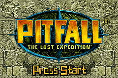 Pitfall - The Lost Expedition (U)(Chameleon) Title Screen