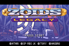 Zoids - Legacy (U)(Venom) Title Screen