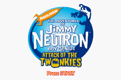 Jimmy Neutron Boy Genius - Attack of the Twonkies (U)(Venom) Title Screen