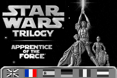 Star Wars Trilogy - Apprentice of the Force (E)(Rising Sun) Title Screen