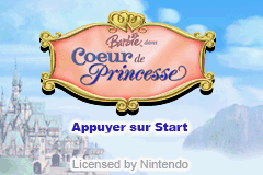 Barbie as the Princess and the Pauper (E)(Rising Sun) Title Screen