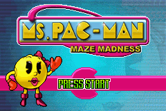 Ms. Pac-Man Maze Madness (U)(Venom) Title Screen