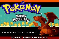 Pokemon Rouge Feu (F)(Rising Sun) Title Screen
