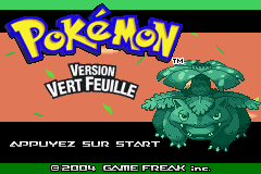 Pokemon Vert Feuille (F)(Rising Sun) Title Screen