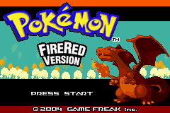Pokemon Fire Red (U)(Independent) Title Screen