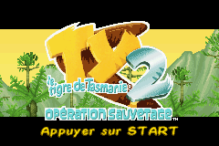 Ty the Tasmanian Tiger 2 - Bush Rescue (U)(Venom) Title Screen