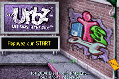 The Urbz - Sims in the City (E)(Rising Sun) Title Screen