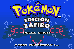Pokemon Zafiro (S)(Independent) Title Screen