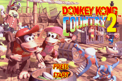 Donkey Kong Country 2 (U)(Independent) Title Screen