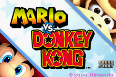 Mario Vs. Donkey Kong (E)(Rising Sun) Title Screen