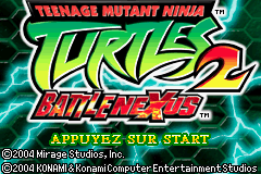 Teenage Mutant Ninja Turtles 2 - Battle Nexus (E)(Cezar) Title Screen