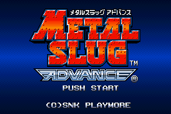 Metal Slug Advance (J)(Caravan) Title Screen