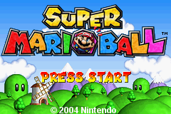 Super Mario Ball (E)(TRSI) Title Screen
