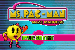 Ms. Pac-Man Maze Madness (E)(Rising Sun) Title Screen