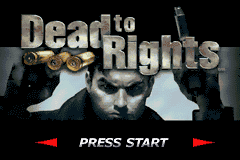 Dead To Rights (U)(Rising Sun) Title Screen